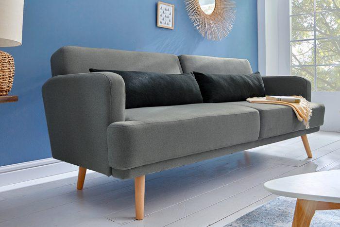 Sofa 3-osobowa STUDIO 210cm ciemnoszara z funkcją spania