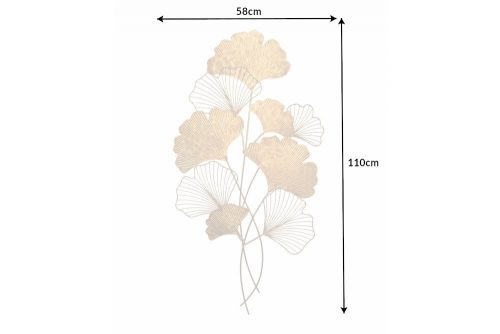 Dekoracja ścienna GINKGO 110cm złota