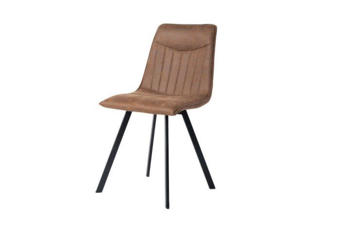 Krzesło CAPRI z ozdobnym pikowaniem retro-vintage
