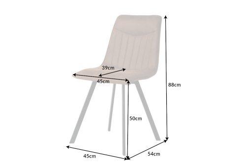 Designerskie brązowe krzesło CAPRI z ozdobnym pikowaniem w stylu retro-vintage