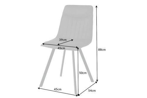 Designerskie czarne krzesło CAPRI z ozdobnym pikowaniem w stylu retro-vintage