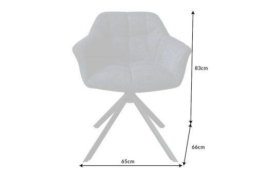 Krzesło obrotowe PAPILLON granatowe pikowane