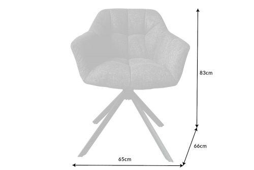 Krzesło obrotowe PAPILLON antracytowe pikowane
