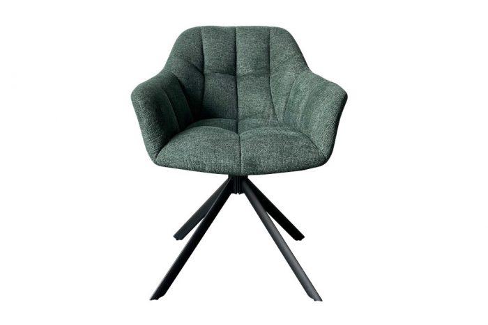 Krzesło obrotowe PAPILLON ciemnozielone pikowane