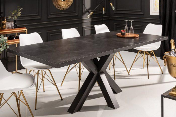 Stół rozkładany MONTREAL 160-208cm grafit