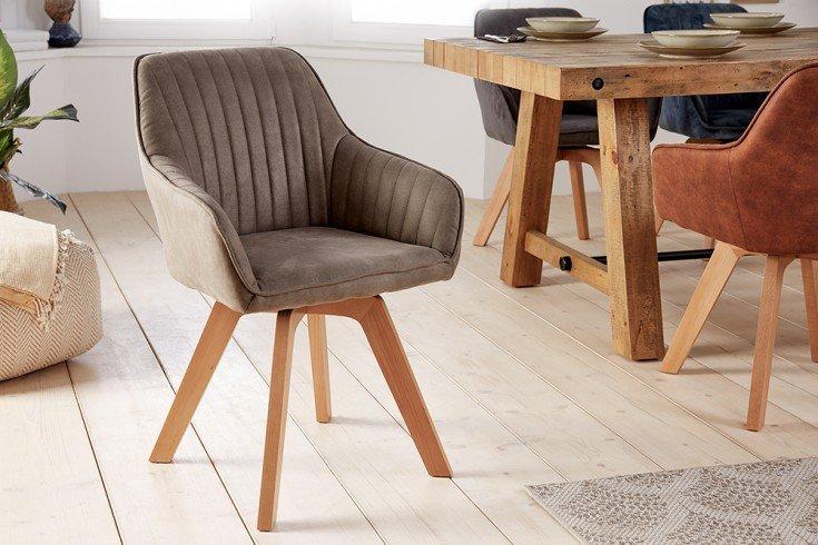 Krzesło obrotowe LIVORNO szarobrązowe
