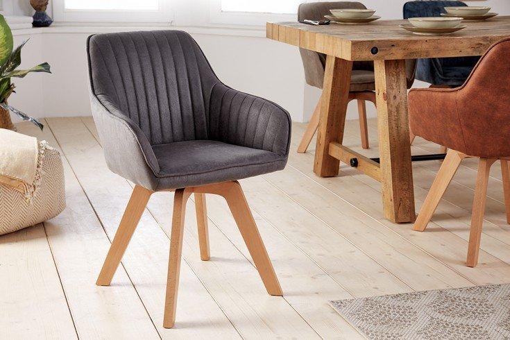 Krzesło obrotowe LIVORNO vintage szare