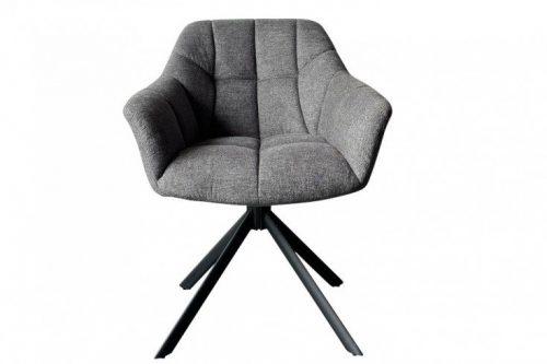 Krzesło obrotowe PAPILLON ciemnoszare