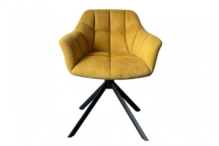 Krzesło obrotowe PAPILLON musztardowo żółte