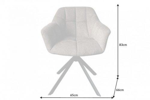 Krzesło obrotowe PAPILLON jasnobrązowe